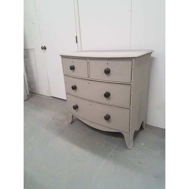 Antique English Painted Chest of Drawers We decided to paint this two over two drawers chest. We liked the faux bamboo and...