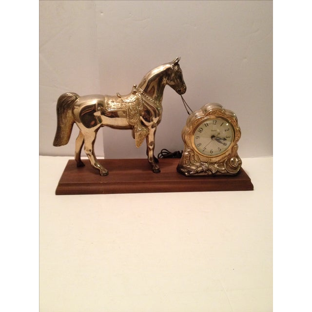 Horse Mantel Clock - Image 2 of 5