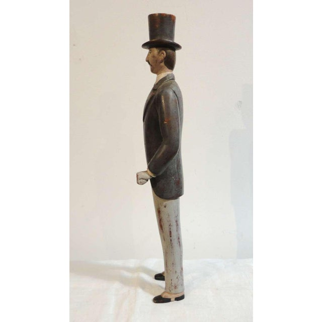 Early 20thc Hand Carved & Painted I.W.Harper Whiskey Man - Image 2 of 10
