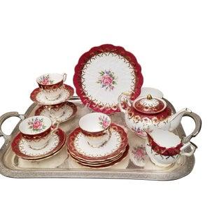 English Porcelain Tea Set For Sale