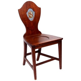 Late 18th Century Shield Back Hall Chair For Sale