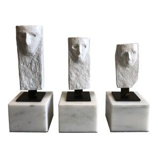 Figurative Bungalow 5 Antigony White Statues on White Marble Bases - Set of 3