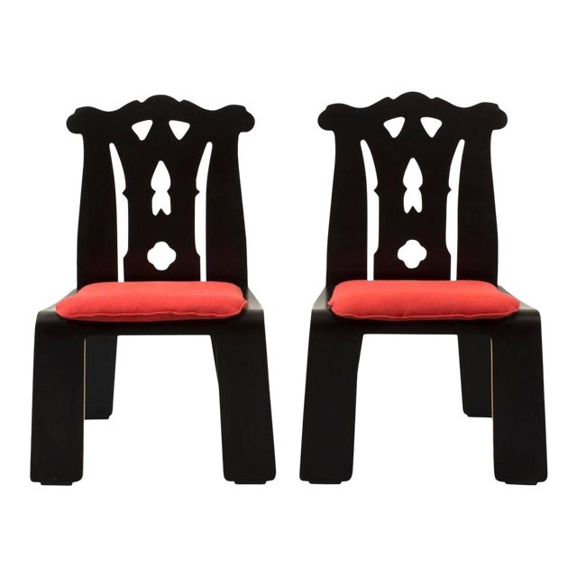 Pair of Robert Venturi Chippendale Chairs for Knoll For Sale