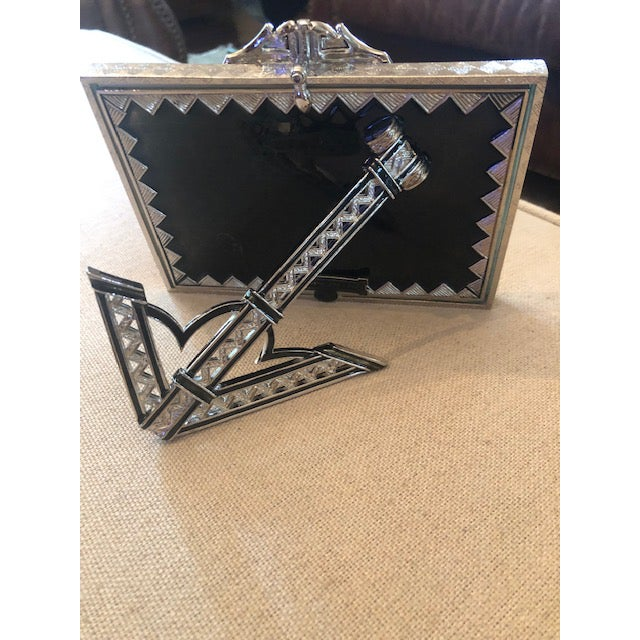 Art Deco Kenneth Jay Lane Deco Crystal Picture Frame For Sale - Image 3 of 6