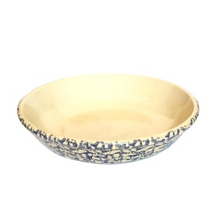 Robinson Ramsbottom Blue Spongeware Serving Bowl For Sale
