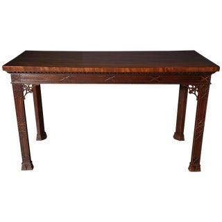 Irish Mahogany Console Table For Sale