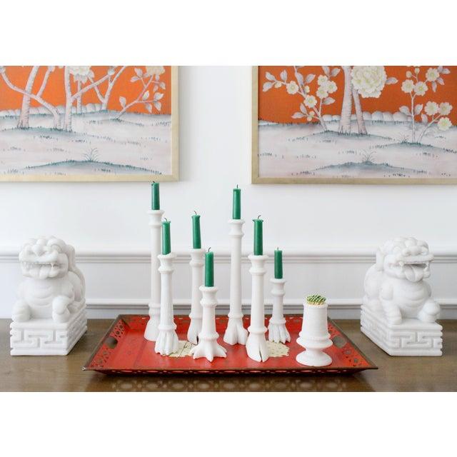 Jardins en Fleur Hand Carved Solid White Marble Matchstriker by Simon Paul Scott For Sale - Image 4 of 5