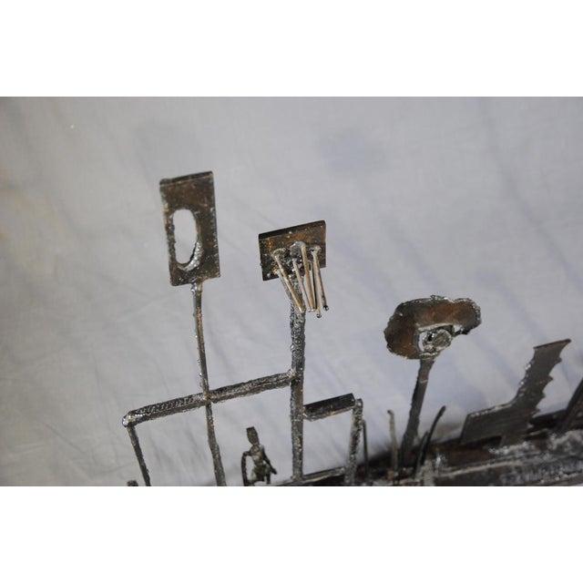 1960's Brutalist Welded Steel Sculpture For Sale - Image 4 of 9
