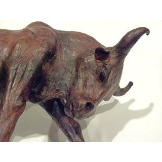 Vintage Mid-Century Paper Mache Bull Sculpture Preview