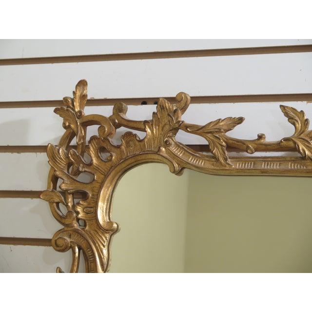 Carvers' Guild Carvers Guild Highly Carved Frame Gold Mirror For Sale - Image 4 of 11