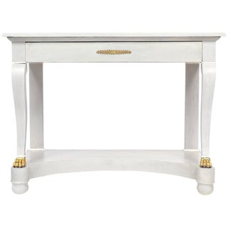 Antique Empire Style Painted Console Table For Sale