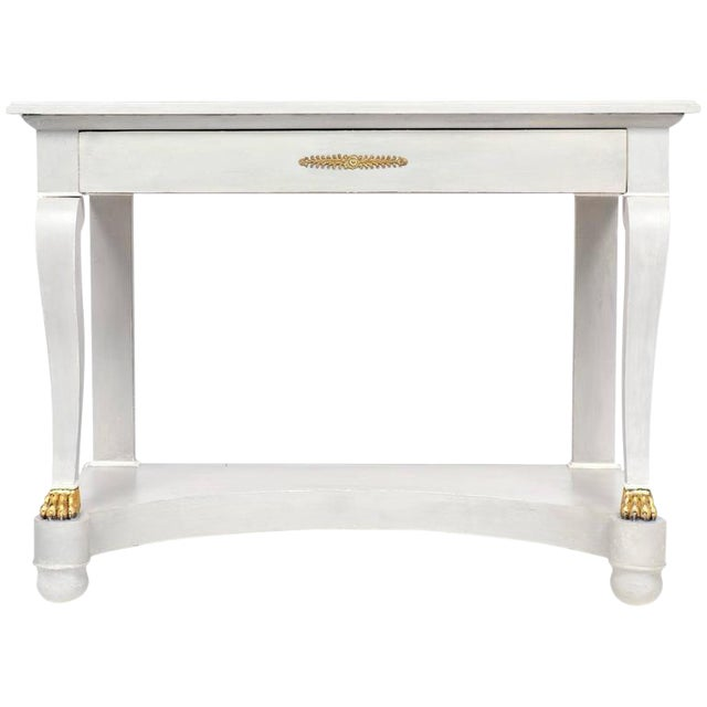 Awesome Antique Empire Style Painted Console Table Theyellowbook Wood Chair Design Ideas Theyellowbookinfo