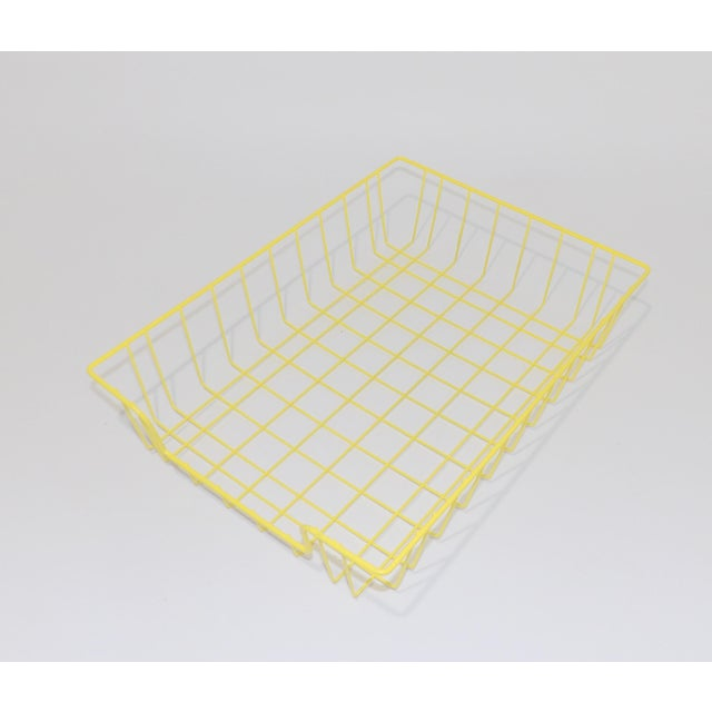 Mid-Century Modern Mid-Century Modern Yellow Wire Office Desk File Sorter For Sale - Image 3 of 6