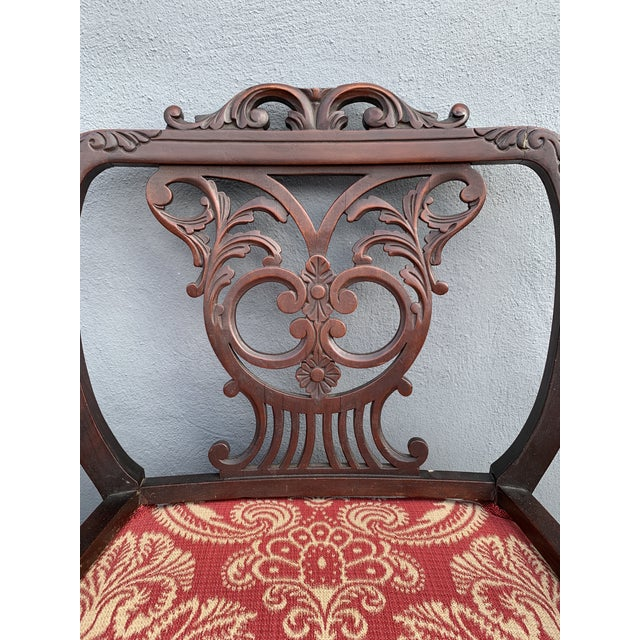 Early 20th Century Antique Jacobean Accent Chair For Sale - Image 5 of 13