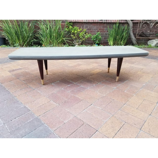 Mid-Century Cork and Rosewood Coffee Table For Sale - Image 10 of 12