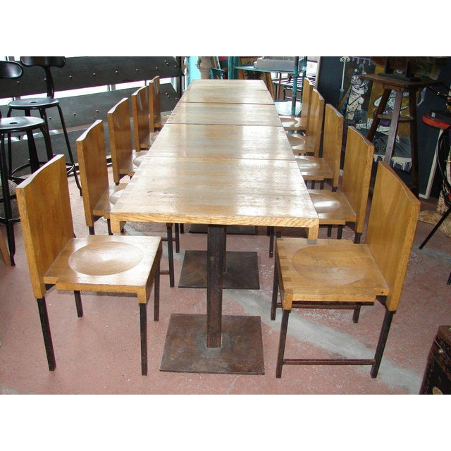 Mid-Century Modern Wood and Steel Dining Chairs and Tables For Sale - Image 3 of 9