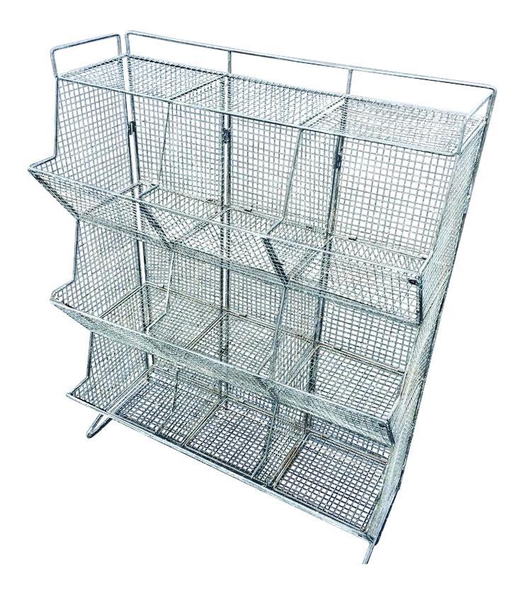 Industrial Style Wire Mesh Storage Bin