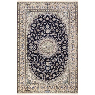 "Pasargad Home Nain Silk & Wool Rug - 4'10"" X 7' 4"" For Sale"