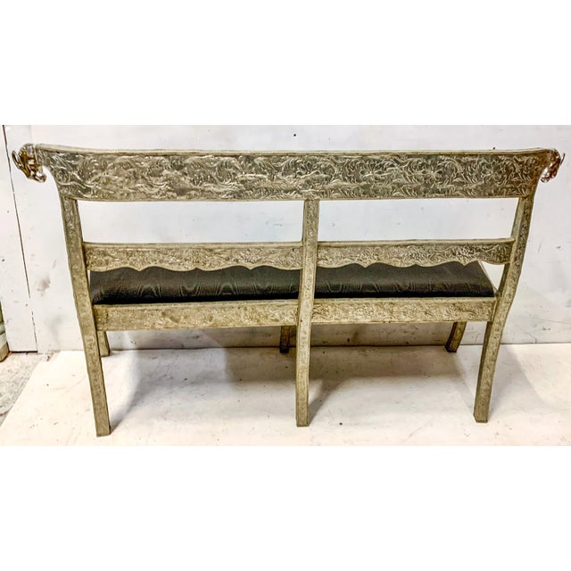 Mid 20th Century Anglo-Indian Silver Repousse Bench or Settee For Sale - Image 5 of 6