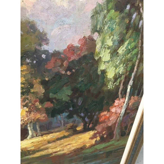 Blue Late 20th Century Oil on Canvas Landscape Painting For Sale - Image 8 of 10