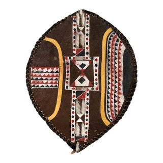 Large Colorful African Tribal Art Shield