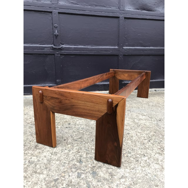 Restored Adrian Pearsall Walnut Slate Coffee Table Craft Associates For Sale - Image 10 of 12