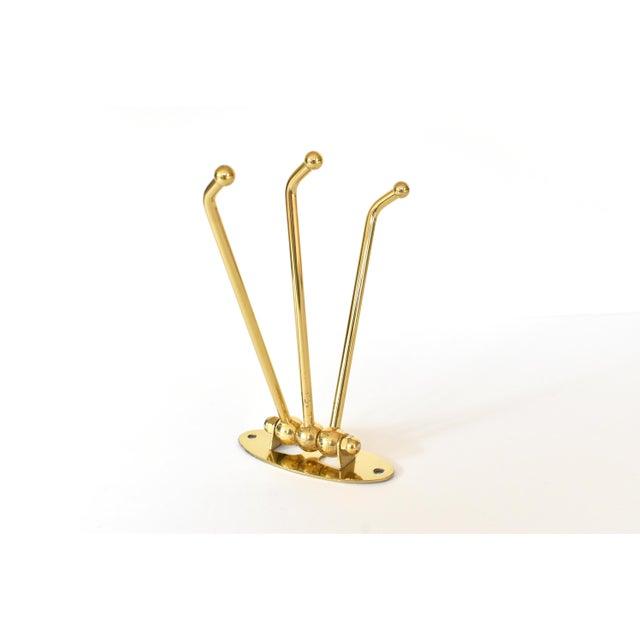 Vintage Brass 3-Prong Folding Swivel Hook For Sale In San Francisco - Image 6 of 7