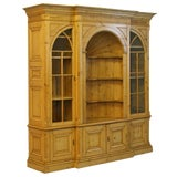 Image of English Pine Bookcase Display Cabinet For Sale