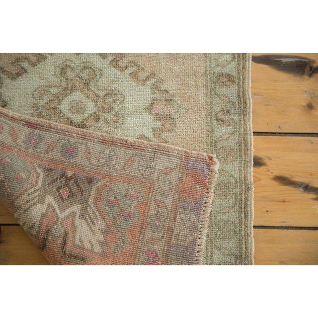 """Vintage Oushak Rug Mat Runner - 1'8"""" X 2'9"""" - Image 5 of 6"""