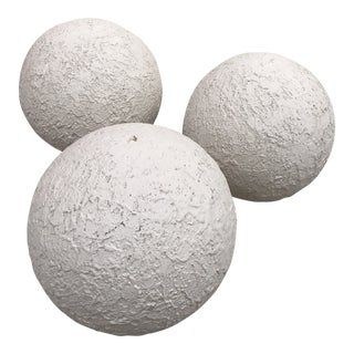 Mid-Century Modern Large Plaster Orbs - Set of 3 For Sale