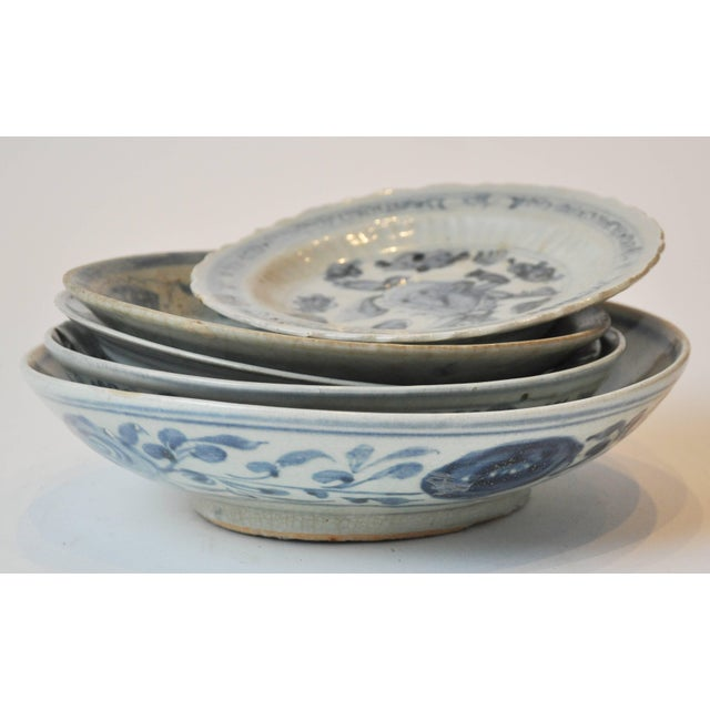 19th century collection of blue and bone Chinese porcelain. The collection has both important and less important pieces....