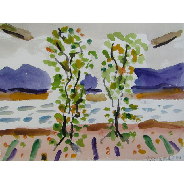 Birch Trees by the Ocean by George Daniell - Image 1 of 4