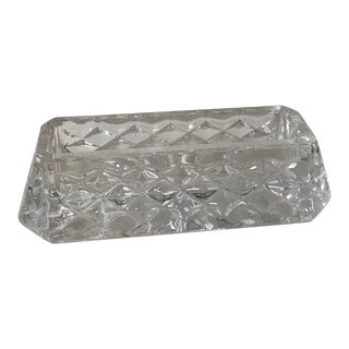Vintage Waterford Crystal Business Card Holder For Sale