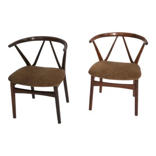Kjaernulf for Hansen Hoop Back Chairs - A Pair For Sale
