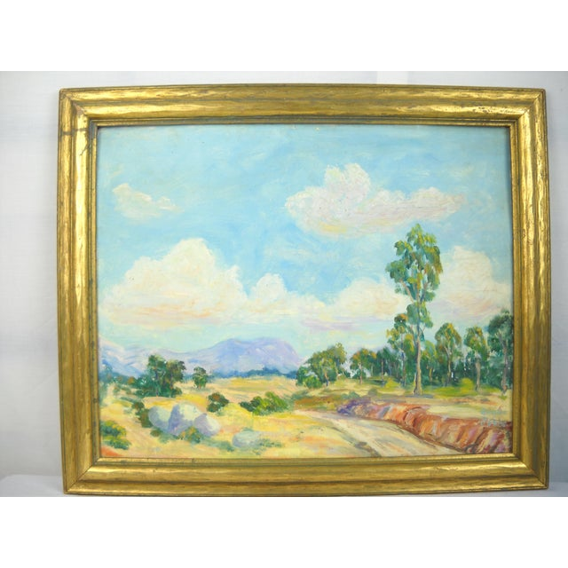 Impressionism 1930s California Landscape Oil Painting For Sale - Image 3 of 9