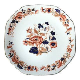 Crown Staffordshire Derby Cake Platter For Sale