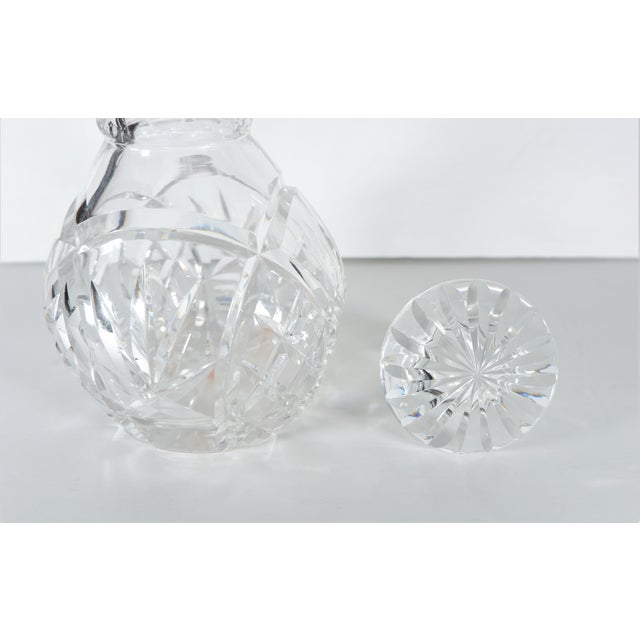 John Grinsell & Sons Cut Crystal Decanter With Sterling Silver Top Rim For Sale In San Francisco - Image 6 of 7