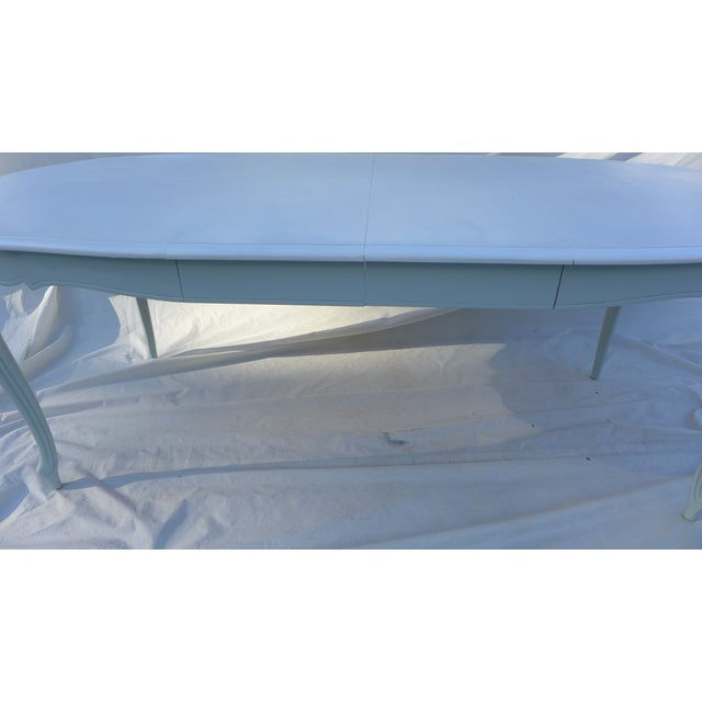 French Style Costal Living Oval Dining Table - Image 6 of 8