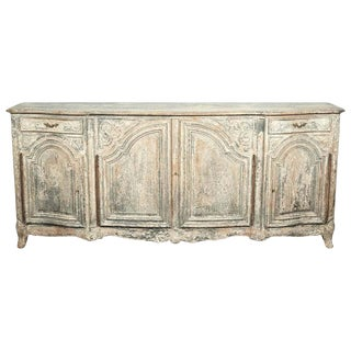 Louis XV Style Francisque Chaleyssin Painted Enfilade Buffet, Signed For Sale
