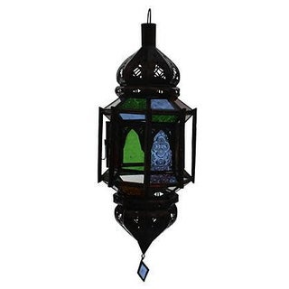 Hand-Crafted Moroccan Ceiling Lantern For Sale