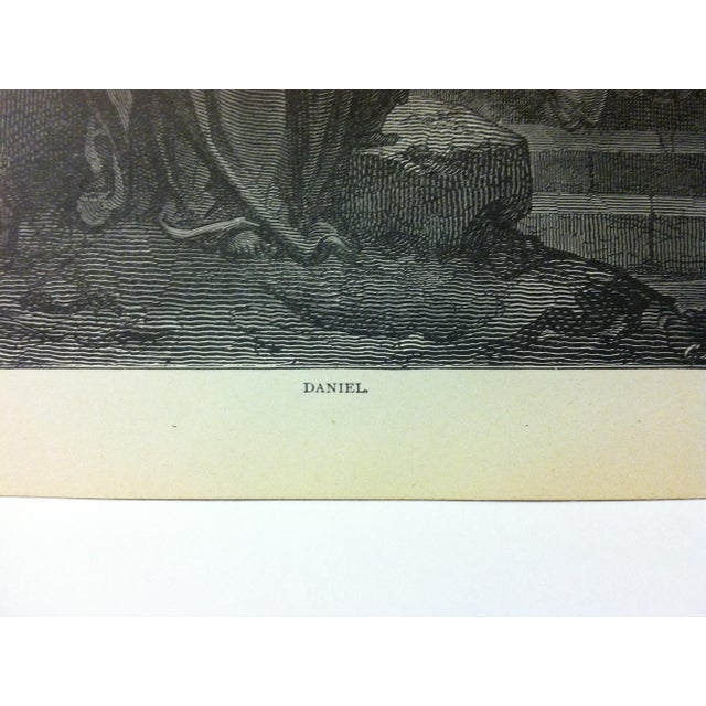 """Figurative Antique 1901 Gustave Dore Illustrated Print on Paper """"Daniel"""" For Sale - Image 3 of 4"""