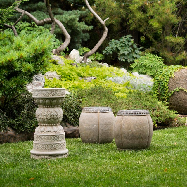 Stone Chinese Clover Form Stone Drum For Sale - Image 7 of 8