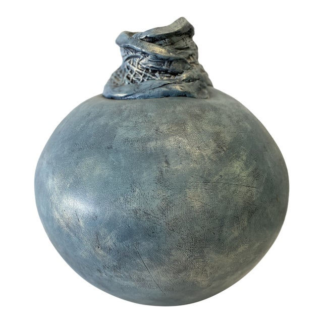1980s Artisan Vase For Sale