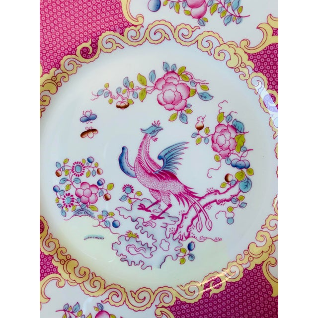 Early 20th Century English Minton Pink Cockatrice Plates - Set of 7 For Sale In Chicago - Image 6 of 8