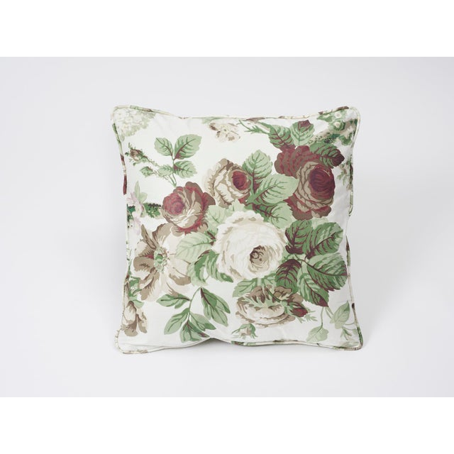 Fabric Schumacher Double-Sided Pillow in Nancy Glazed Cotton Print For Sale - Image 7 of 8