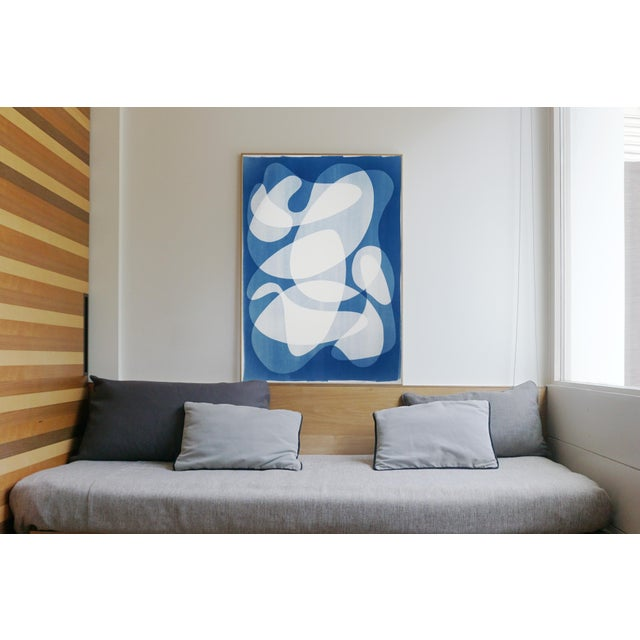 2020 Contemporary Abstract Cyanotype Cutout by Kind of Cyan For Sale - Image 4 of 11
