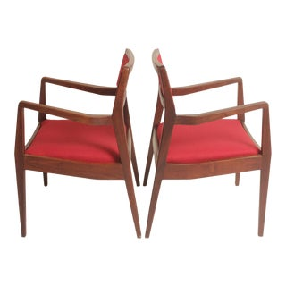 """Jens Risom C-140 """"Playboy"""" Chairs - A Pair"""