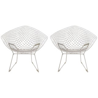 Pair of Bertoia Diamond Chairs For Sale