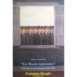 """1986 Original Rene Magritte Exhibition Poster - """"Musée Éphémère"""" Foundation Maeght For Sale"""