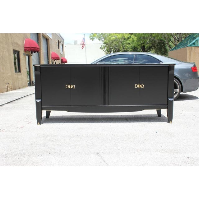 French Art Deco Ebonized Sideboard / Buffet / Bar - Image 2 of 10